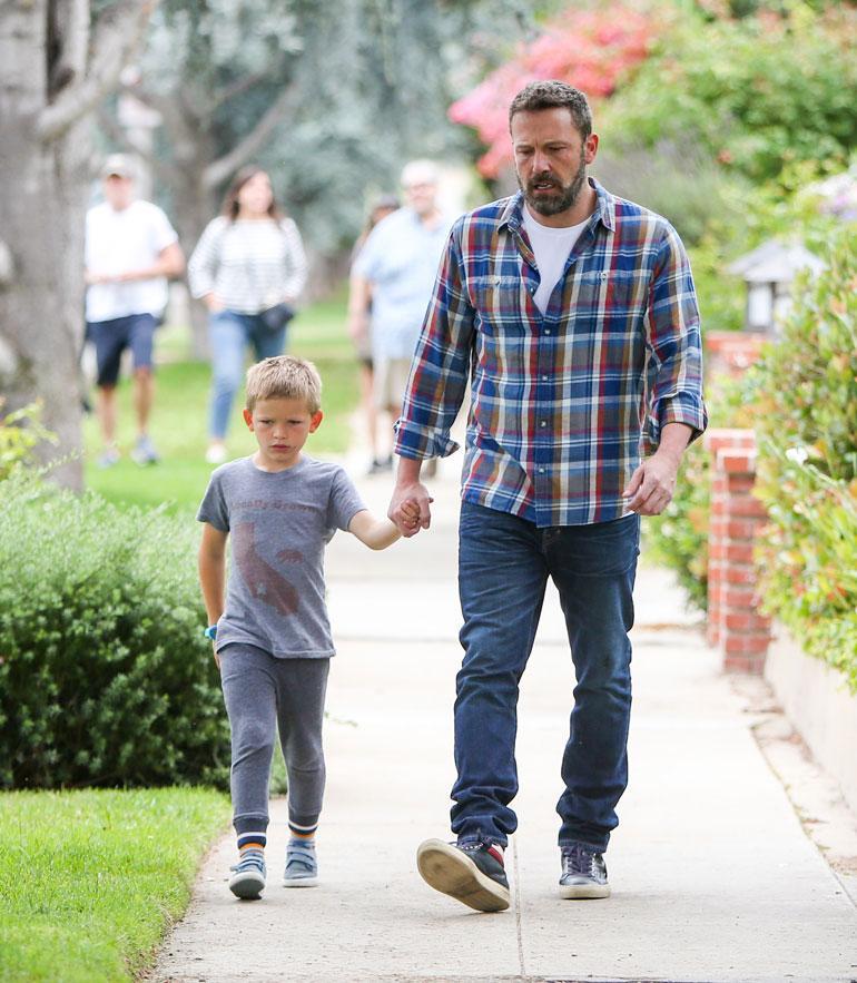 Ben Affleck ja poika.