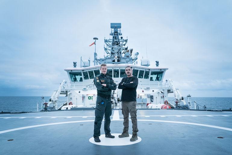 """Vartiolaiva Turva on Rajavartiolaitoksen """"suurin ja kaunein"""". Se on partioinut Suomenlahdella vuodesta 2014."""