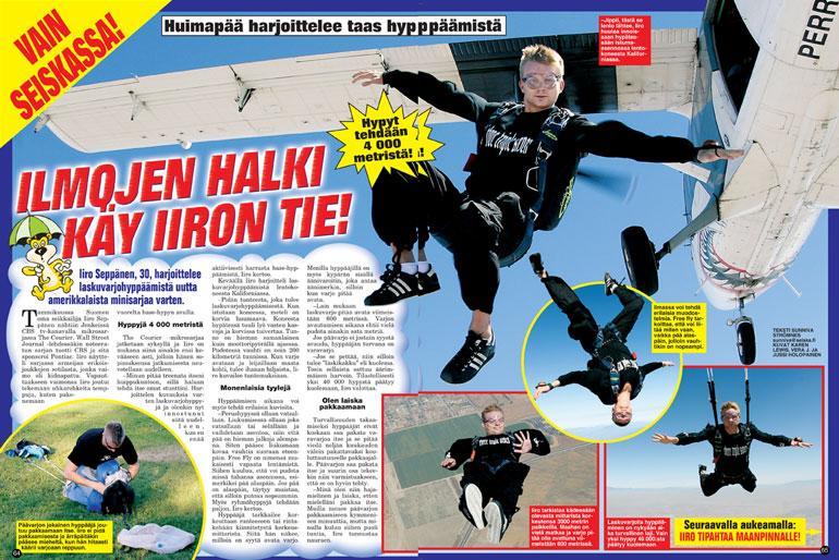 SEISKA 36/2005. Iiro on seikkaillut vuosien varrella useaan otteeseen Seiskankin sivuilla.