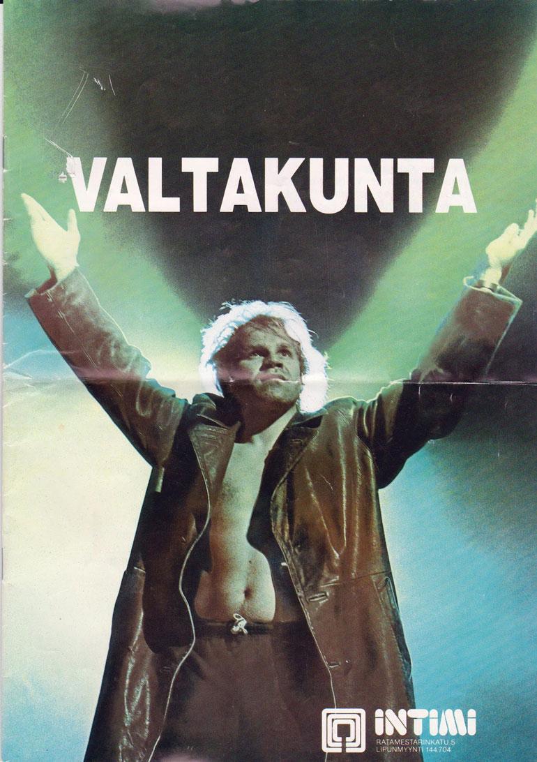 Jussi Juskan roolissa vuonna 1985.