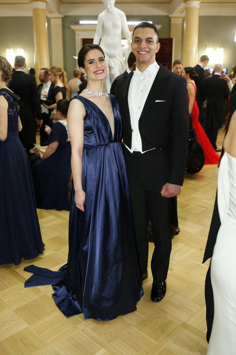 Rosanna Toivonen ja Omar Abdelfattah ovat näyttävä pariskunta.