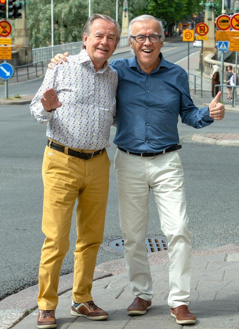 Matti (oik.) ja Teppo vierailivat Linnassa jo Martti Ahtisaaren ja Tarja Halosen aikoina.