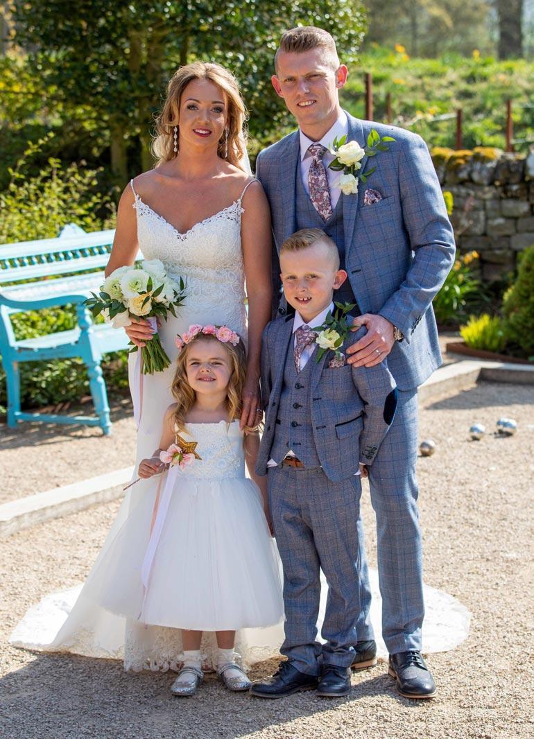Jenna, 31, ja Matthew, 35, avioituivat viime kesänä.  – Juhlimme samalla Avan uuden pään synttäreitä hänen omasta tahdostaan.