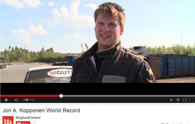 Jori A. Kopponen rikkoi maailmanennätyksen - katso raju video!