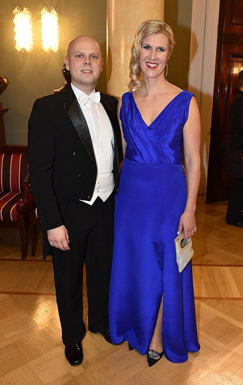 Kansanedustaja Sari Multala ja puoliso Perttu Vänttinen