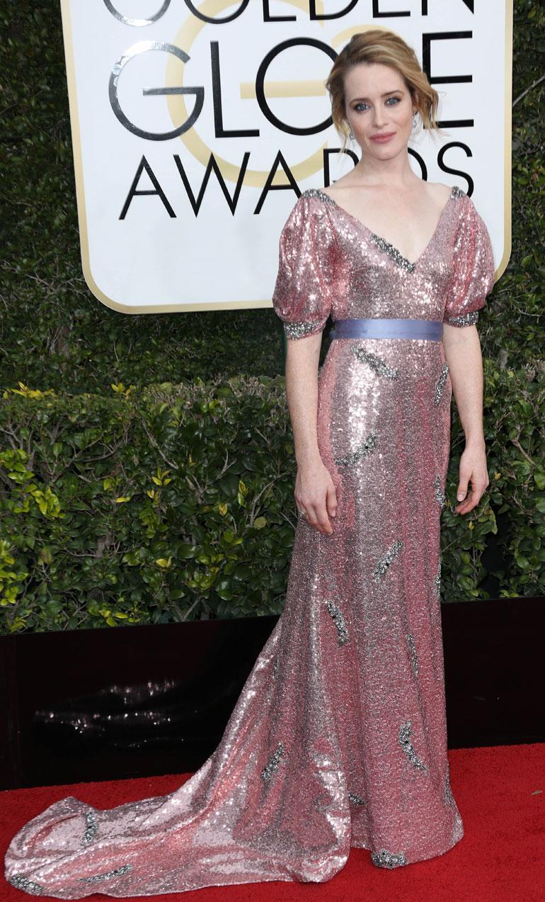The Crown -sarjasta parhaan naispääosan Golden Globen draamasarjassa voittanut Claire Foy, 32, edusti Erdemin puvussa.