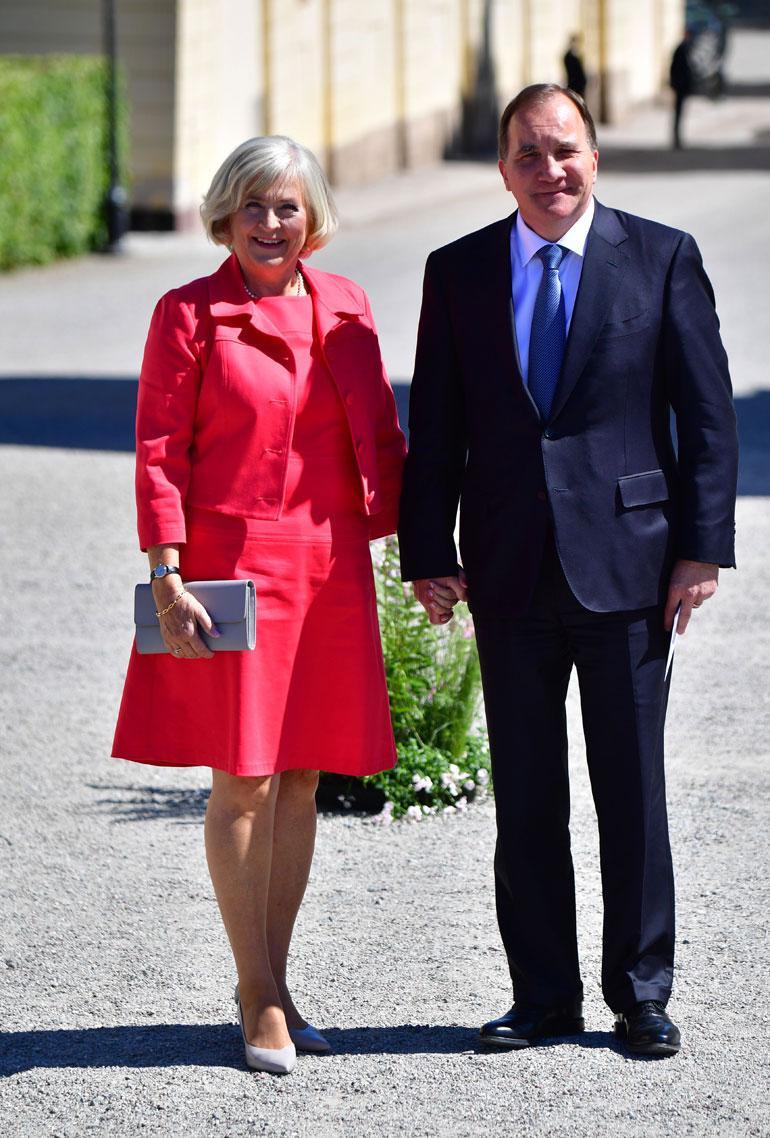 Ruotsin pääministeripari Stefen ja Ulla Löfven saa usein kutsun kuninkaallisiin juhliin.