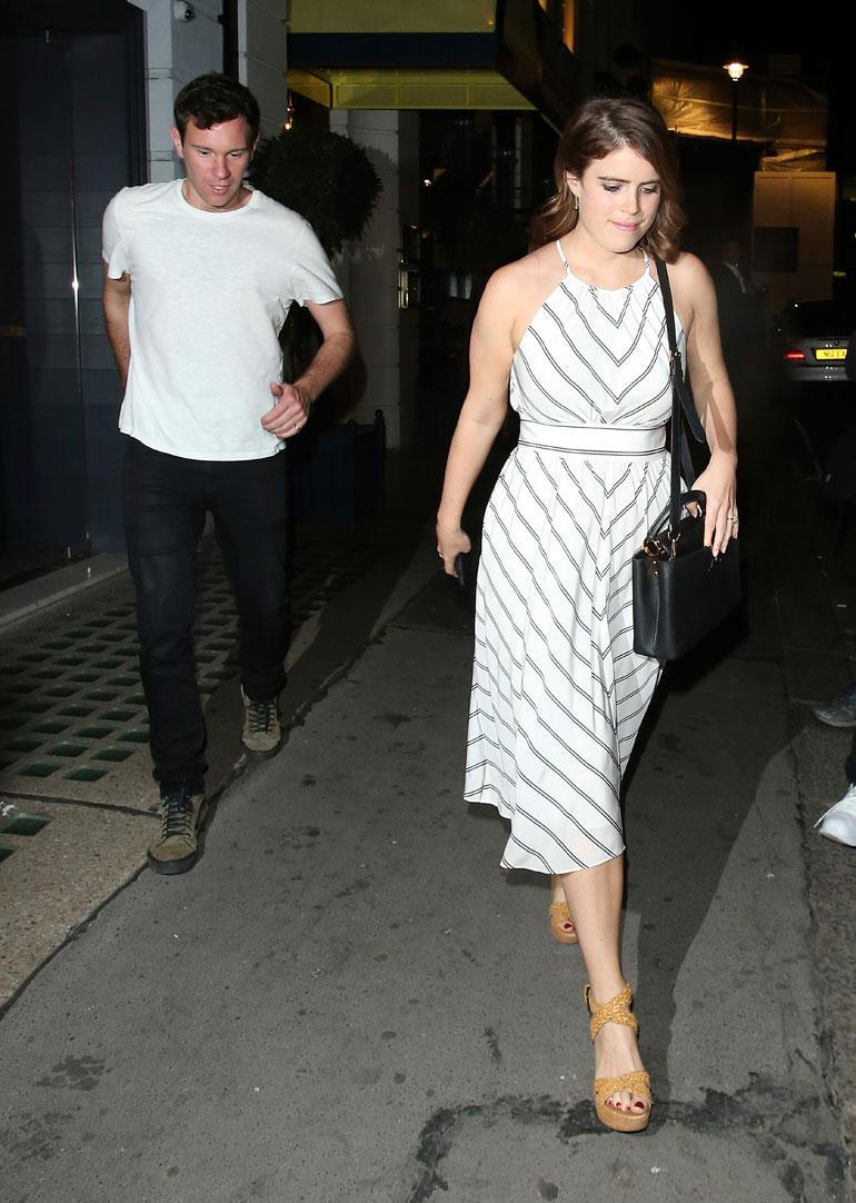 Ensi syksynä häitään viettävät prinsessa Eugenie ja Jack Brooksbank nauttivat illallisen ylellisessä Isabel-ravintolassa Lontoossa.