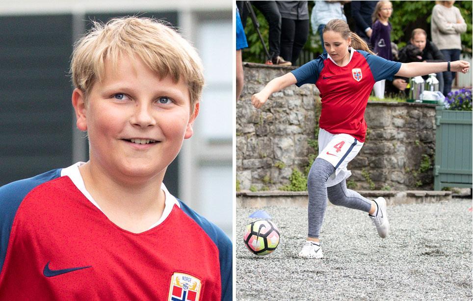 Norjan kruununprinssipari Haakon ja Mette-Marit lähti mukaan paikalliseen futiksen ystävyysotteluun. Mukana pelissä olivat luonnollisesti prinsessa Ingrid, 14, ja prinssi Sverre, 12.