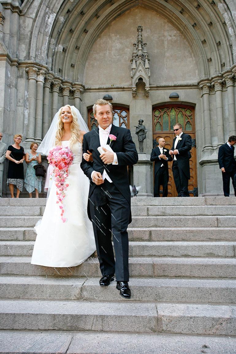 Piritta ja Niklas Hagman avioituivat vuonna 2006.