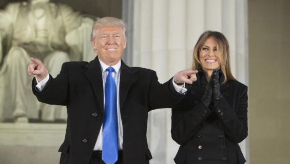 Donald ja Melania Trump