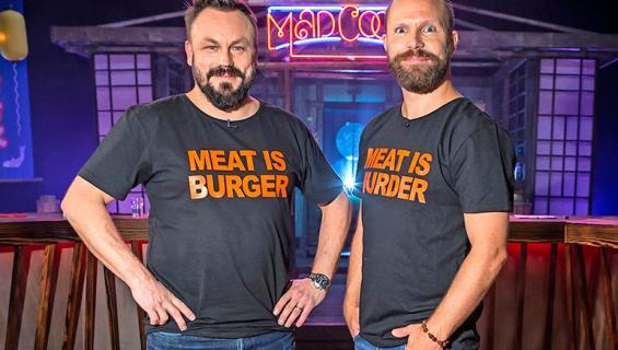 Mad Cook Show -juontajat Riku Rantala ja Tunna Milonoff