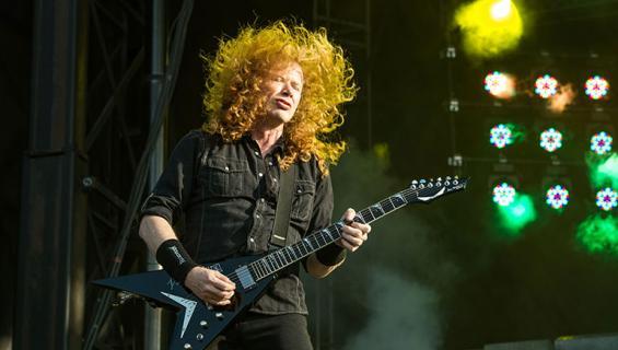 Dave Mustaine keikalla