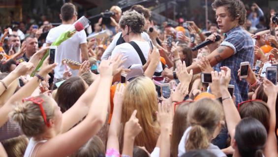 One Directionilla on intohimoisia faneja.