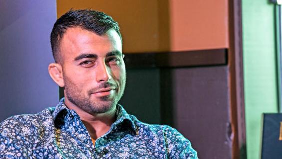 Makwan Amirkhani nähtiin Hesburgerissa.