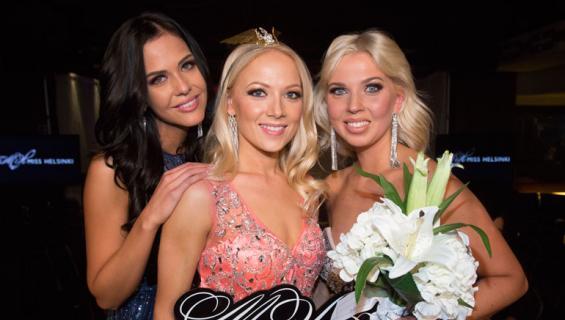 Miss Helsinki -kisan kärkikolmikko: Jasmin Voutilainen (vas.), Janna-Juulia Vuorela ja Venla Nikulainen