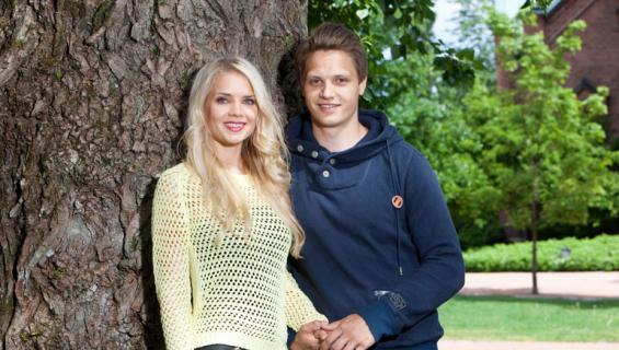 Lotta ja Kristian Näkyvä elävät etäsuhteessa.
