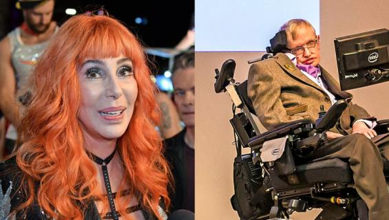 Cher muistelee treffejä edesmenneen Stephen Hawkingin kanssa.