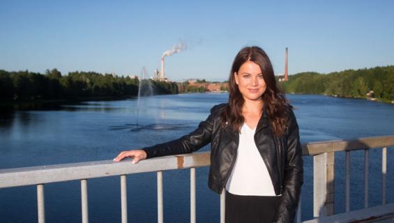 Janni Hussi Kuusankoskella.