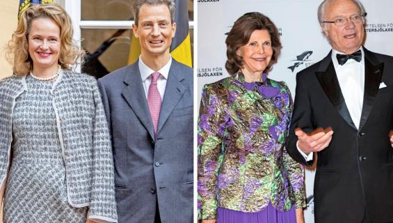 Kruununprinssipari Alois ja Sofie, kuningaspari Kaarle Kustaa ja Silvia
