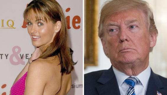 Presidentti Donald Trump ja Karen McDougal