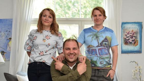 Perttu SIrviö pelasti Hinttalan perheen talon.