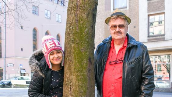 Tom Sjöberg esitteli tyttärensä.
