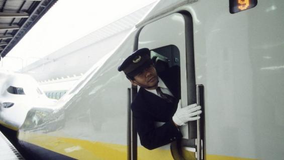 Japanilaisjuna mokasi aikataulunsa.