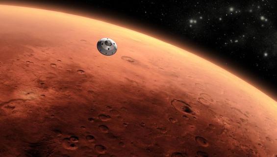 Ihminen aikoo muuttaa Marsiin.