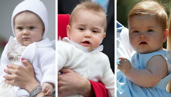 Ruotsin prinsessa Estelle, Ison-Britannian prinssi George ja Hollannin kruununprinsessa Amalia