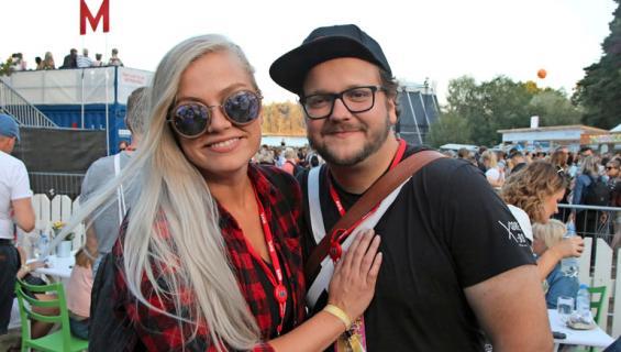 Kalle Lamberg ja Maria-kihlattu Ruisrockissa.