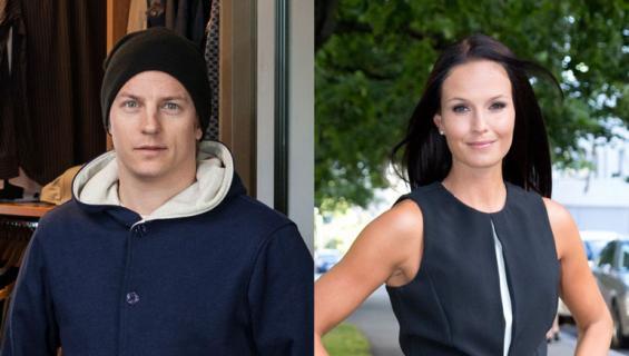 Kimi Räikkönen ja Minttu Juhlivat hääpäiväänsä.