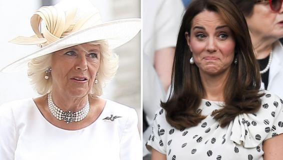 Cornwallin herttuatar Camilla ja Cambridgen herttuatar Catherine