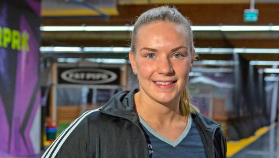 Jenna Laukkanen sai valmentajalta palautetta.