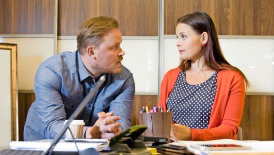 Lauri ja Elina saavat huippusopimuksen Uusi päivä -sarjassa.