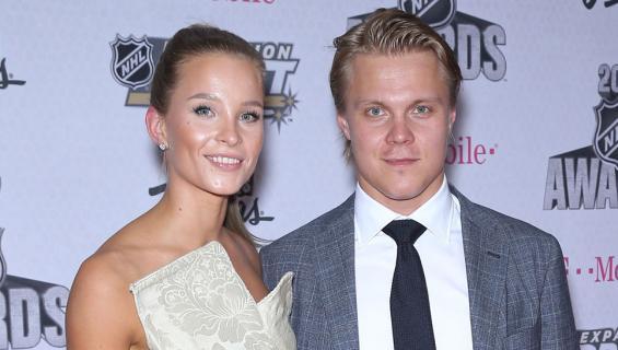 Emmi Kainulainen ja Mikael Granlund