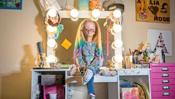 11-vuotias Adalia vanhenee kymmenkertaisella nopeudella.
