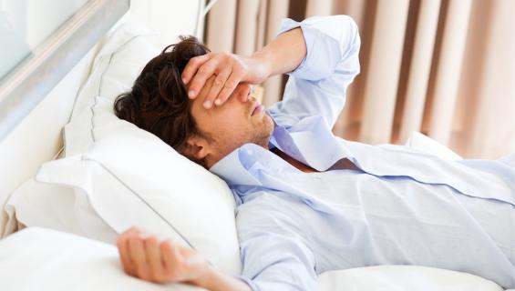 Stressi näkyy makuuhuoneessa.