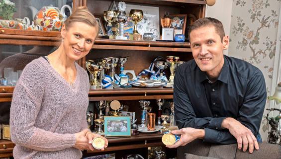 Sinuhe ja Kaisa Wallinheimolla on urheilutausta.