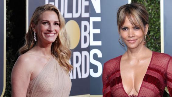 Julia Rberts ja Halle Perry Golden Globe -gaalassa.
