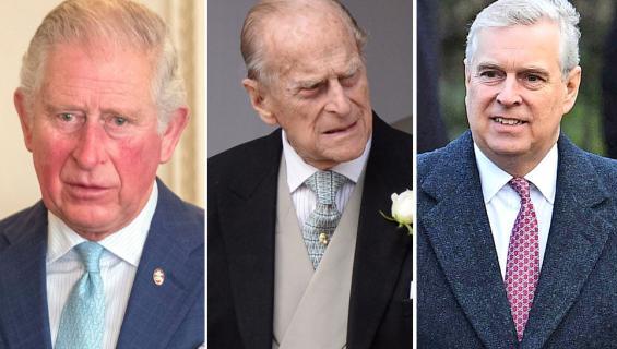 Prinssit Charles, Philip ja Andrew