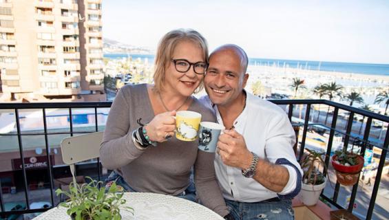 Johanna Karjunen ja Giuseppe Mennillo kohtasivat Espanjassa.