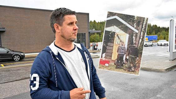 Poliisit tutkivat Kenneth Väyrysen varaston.