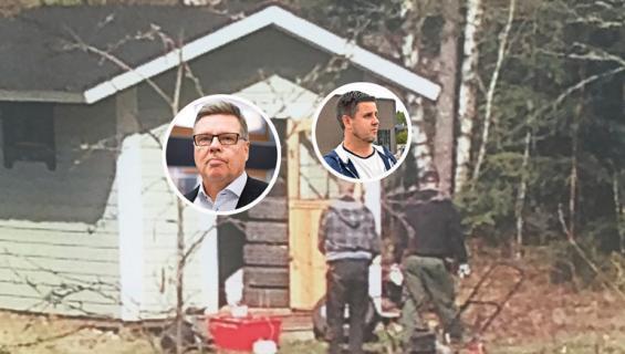 Poliisit tutkivat Jari Aarnion naapurin varaston.