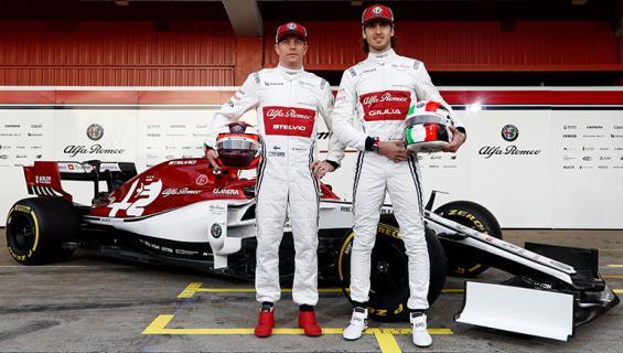 Kimi Räikkönen ja Antonio Giovinazzi.