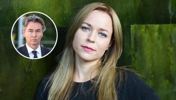 Paula Vesala työstää yhteistä projektia Esa-Pekka Salosen kanssa.