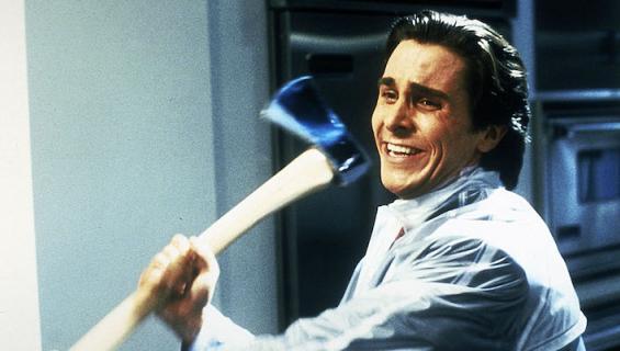 Christian Bale esittää pyskopaattia elokuvassa American Psycho.