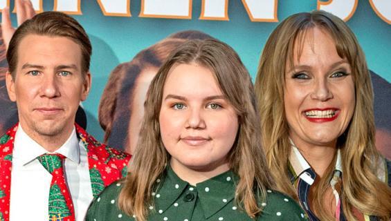 Aku Hirviniemen ja Niina Lahtisen Annikki-tytär innostui näyttelemisestä.