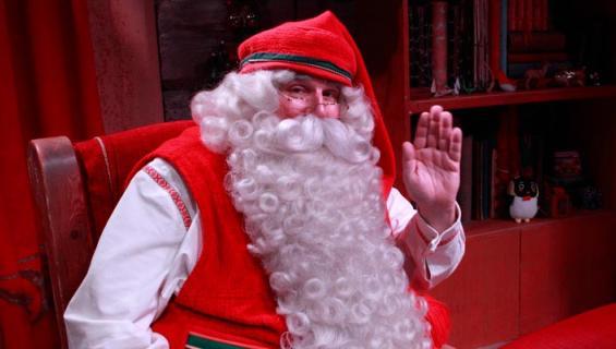 Seiska tapasi joulupukin.
