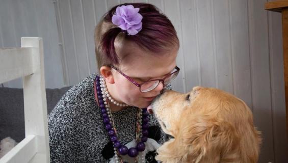 Alexandra ja Nelli-koira
